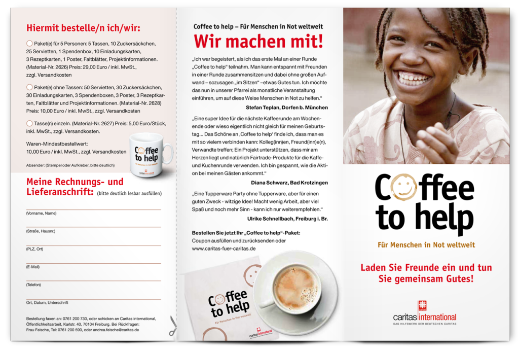 Coffe to help flyer 1
